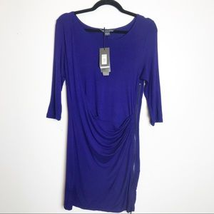 A/X Armani Exchange | Front Drape Cocktail Dress